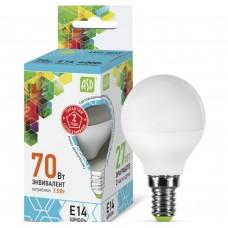 Светодиодная лампа ASD LED-ШАР-standard-7.5-E14-4000