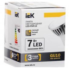 Светодиодная лампа PAR16 софит 7 Вт 560 Лм 230 В 3000 К GU10 IEK