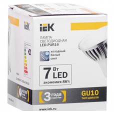 Светодиодная лампа PAR16 софит 7 Вт 560 Лм 230 В 4000 К GU10 IEK