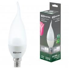 Светодиодная лампа WFС37-5 Вт-220 В -4000 К–E14 (свеча на ветру) TDM ELECTRIC