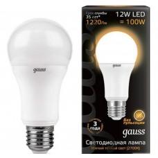 Светодиодная лампа LED A60 globe 12W E27 2700K 1/10/40 Gauss