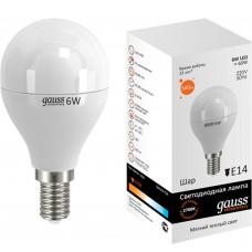 Светодиодная лампа LED Elementary Globe 6W E14 2700K 1/10/50 Gauss