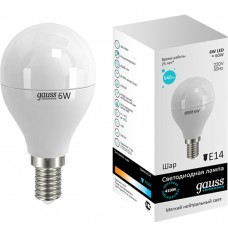 Светодиодная лампа LED Elementary Globe 6W E14 4100K 1/10/50 Gauss