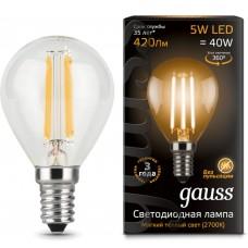 Светодиодная лампа LED Filament Globe E14 5W 2700K 1/10/50 Gauss