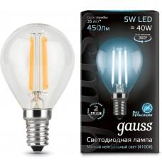 Светодиодная лампа LED Filament Globe E14 5W 4100K 1/10/50 Gauss
