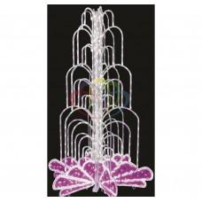 LED фонтан, высота 4.0, диаметр 2.5 метра (с контроллером) Розовый NEON-NIGHT