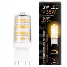 Светодиодная лампа LED G9 AC185-265V 3W 2700K 1/20/200 диммируемая. Gauss