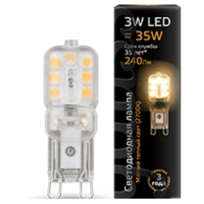 Светодиодная лампа LED G9 AC220-240V 3W 2700K пластик 1/20/200 Gauss