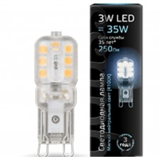 Светодиодная лампа LED G9 AC220-240V 3W 4100K пластик 1/20/200 Gauss