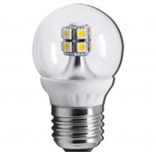 Светодиодная лампа Ecola LED Globe 14 LED G45 4,0W 220V 4000K E27 76х45
