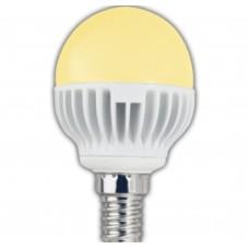 Светодиодная лампа Ecola globe LED 4,2W G45 220V E14 золотистый шар 81x45