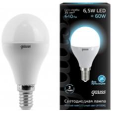 Светодиодная лампа LED Globe E14 6.5W 4100K 1/10/50 Gauss