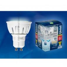 Светодиодная лампа LED-JCDR-6W/NW/GU10/FR/38D ALM01WH Uniel