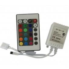 LED strip RGB IR controller 72W 12V 6A с инфракрасным пультом управления Ecola