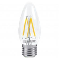 Светодиодная лампа LED-СВЕЧА-deco 5Вт 230В Е14 4000К 450Лм прозрачная IN HOME IN HOME