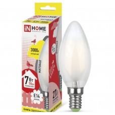 Светодиодная лампа LED-СВЕЧА-deco 7Вт 230В Е14 3000К 630Лм матовая IN HOME IN HOME
