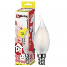 Светодиодная лампа LED-СВЕЧА НА ВЕТРУ-deco 7Вт 230В Е14 3000К 630Лм матовая IN HOME IN HOME