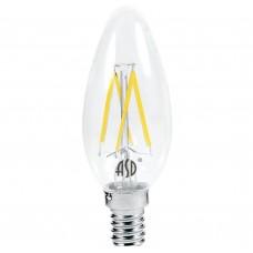 Светодиодная лампа LED-СВЕЧА-PREMIUM 7Вт 230В Е14 4000К 630Лм прозрачная ASD