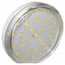 Светодиодная лампа Light GX53 LED 6,0W Tablet 220V 4200K 27x75 прозрачное стекло 30000h Ecola