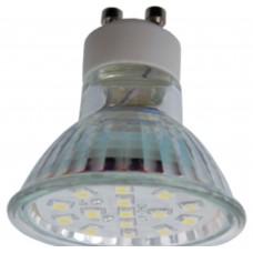 Светодиодная лампа Light Reflector GU10 LED 3W 220V GU10 2800K прозрачное стекло 53x50 Ecola