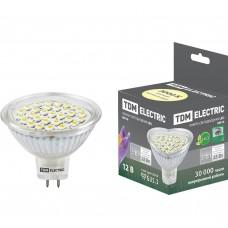 Светодиодная лампа MR16-3 Вт-12 В -3000 К–GU5.3 SMDTDM