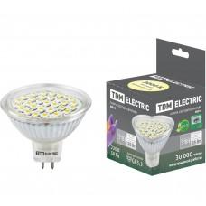 Светодиодная лампа TDM MR16-3 Вт-220 В -3000 К–GU 5,3 SMD