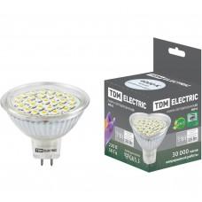 Светодиодная лампа MR16-3 Вт-220 В -4000 К–GU5.3 SMDTDM