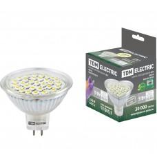 Светодиодная лампа MR16-5 Вт-220 В -3000 К–GU5.3 SMD TDM