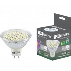 Светодиодная лампа MR16-5 Вт-220 В -4000 К–GU5.3 SMD TDM