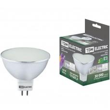 Светодиодная лампа MR16-7 Вт-220 В -4000 К–GU5.3 SMD с матовым стеклом TDM