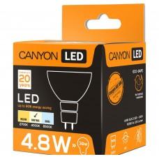 Светодиодная лампа MRGU53/5W230VN60 LED lamp, MR shape, GU5.3, 4.8W, 220-240V, 60°, 330 lm, 4000K, Ra>80, 50000 h CANYON