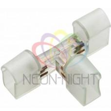 Муфта для соединения гибкого неона, Т-конектор, без иглы NEON-NIGHT
