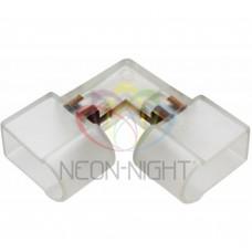 Муфта для соединения гибкого неона, внутренний угол, без иглы NEON-NIGHT