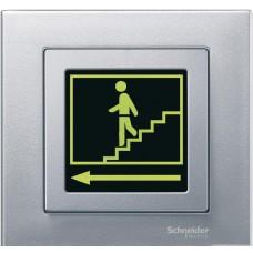 Накладка с полем д/надписи, алюминий Schneider Electric