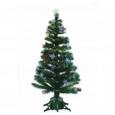 Новогодняя Ель NEON-NIGHT фибро-оптика Снежинка 120 см, 125 веток, с декоративными украшениями 533-202