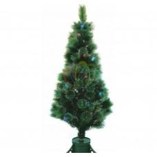 """Новогодняя Ель """"Сосна"""", фибро-оптика 150 см, 115 веток, с декоративными украшениями"""