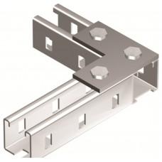Пластина соединительная L-обр., длина 90х90 мм, 3отв., горячеоцинкованная DKC
