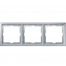 Рамка х3, алюминий Schneider Electric