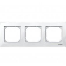 Рамка m-plan 3-местная бел Schneider Electric