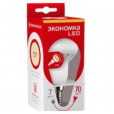 Светодиодная лампа рефлектор R50 7Вт Е14 230v 3000K Экономка