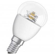 Светодиодная лампа SCLP40 6W/827 220-240V CS E14 прозрачная Osram