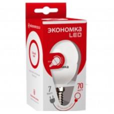 Светодиодная лампа ШАРИК GL45 7Вт Е14 230v 6500K Экономка