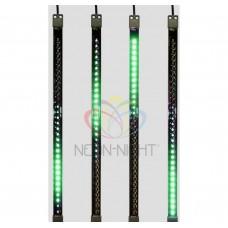 Сосулька светодиодная 50 см, 9,5V, двухсторонняя, 32х2 светодиодов, , цвет светодиодов зеленый NEON-NIGHT