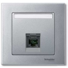 Цент.плата для розетки, алюминий Schneider Electric