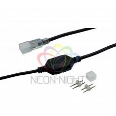 Установочный комплект для SMD 3528 NEON-NIGHT 220В(заглушка, муфта переходная питания, шнур питания 4А) до 100м 142-000