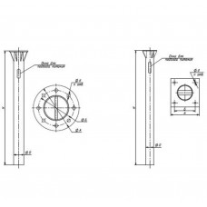 Закладная деталь фундамента OPORA ENGINEERING ТАНС.31.006.000 (ЗФ-30/12/Д500-3,0-б)