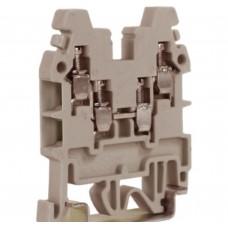 Зажим проходной CBR.2GR, DKC бежевый 2 ввода/2 вывода, 2,5 кв.мм