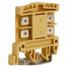Зажим проходной DKC AFO.2/1+1, 2,5 кв.мм бежевый с раздельными контактами