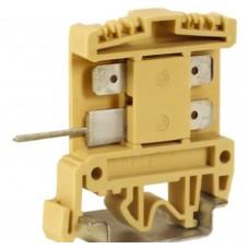 Зажим проходной DKC AFO.2/2+2, 2,5 кв.мм бежевый с цельным контактом