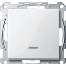 1 клав вык-ль, с подсв, без рамки, M-TREND, бел Schneider Electric